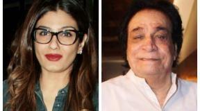 Raveena-tandon-kader-khan-1