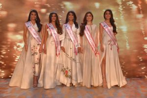 LefttoRightMiss India Rajasthan Suman Roa, Miss India Maharashtra Vaishnavi Andhale, Miss India Goa Shaashtra Shetty, Miss India J&K Megha Kaul and Miss India Gujarat Mansi Taxak